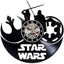 Star Wars vinilo reloj Vintage Pared Decoración Colección Regalo