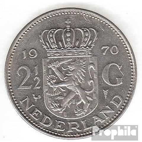 Países Bajos km-No.. : 191 1980 Nickel 1980 2-1/2 Gulden juliana (monedas para los coleccionistas)