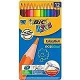 BIC KIDS Buntstift ECOlutions EVOLUTION, 12-farbig sortiert, Metallbox à 12 Stück