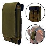 Clakit Outdoor Handy-Tasche mit Klemmhalterung Rucksack 8,5x16cm Smartphonetasche Schutzhülle für Apple, Samsung, HTC, Huawei, Sony, Olive-Grün