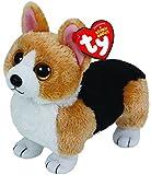Ty 42102Otis–Corgi Dog with Glitter Eyes, Plush toy, 15cm