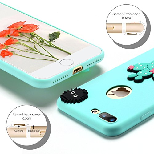 6 * Cover iPhone 7 Plus (5.5 pollici) Spiritsun iPhone 7 Plus Custodia TPU Moda Elegante Case Cover Soft Silicone Back Cover Protezione Bumper Funzione Shell Morbida Flessible TPU Cover Per iPhone 7 P 6 Color