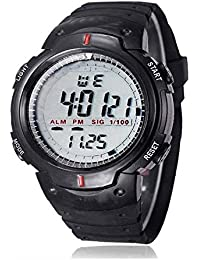 MVS- Sports Digital Black Dial Watch Men's And Boy's Watch