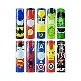 Superheroes 10 Stück 18650 Batterie Sleeves Wraps authentische vorgeschnittene Bateriehülse, 29 mm Wickelt PVC Schrumpfschlauch, Replacement Batterie Hitze Schrumpfen