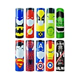 Superheroes 10 Stück 18650 Battery Sleeves/Wraps authentische vorgeschnittene Bateriehülse, 29 mm Wickelt PVC, Replacement Batterie Hitze Schrumpfen