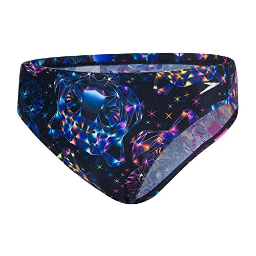 Speedo Herren Diamondize Allover 5 cm Badehose, Black/Bubble Gum Post It Pink, 3 (Herstellergröße  : 30/75 cm)
