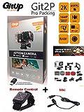 Camara deportiva GITUP GIT2P PRO edition VERSIÓN ESPAÑOLA (Nuevo modelo 2017, 2 años de garantía oficial GITUP ESPAÑA) + control remoto + microfono GITUP! Sensor Panasonic 2160P 24fps 1080p 60fps, WIFI, FOV 170º,120º, Panasonic MN34120PA 16MP, estabilizador imagen, Bateria 1000mha, sumergible 30M.Chipset Novatek NTK96660, LCD 1.5'. Package e instrucciones en español y esta versión INCLUYE lector USB de MicroSD para descargar tus videos en tu PC