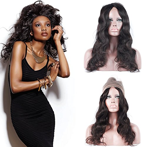 Dai Weier 360 Bresilienne En Lot Pas Cher Body Waves Hair With Lace Front Frontal Closure With Baby Hair Tissage Cheveux Naturels Lisse 16 pouces