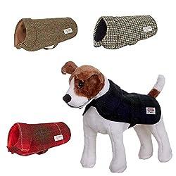 Harris Tweed Dog Coat Jacket - Puppy and Large Dog Sizes - Range of Colours from The Scotland Kilt Company