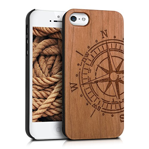 kwmobile-schutzhulle-fur-apple-iphone-se-5-5s-holz-kunststoff-hardcase-cover-handy-hulle-mit-kompass