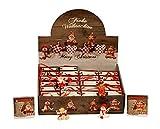 Tolles Display mit 24 weihnachtlichen Figuren je in Geschenktütchen Engel Weihnachtsmann Schneemann Elch Weihnachten Deko
