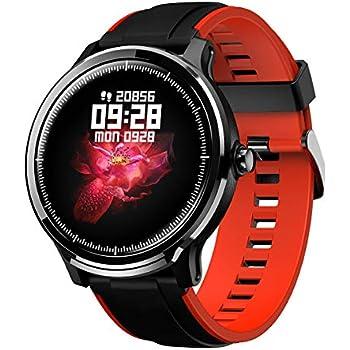 GOKOO Bluetooth Smartwatch Hombre Reloj Inteligente Impermeable IP68 Pulsera Actividad Monitor de Sueño Calorías Podómetro Pulsómetro Notificación de ...