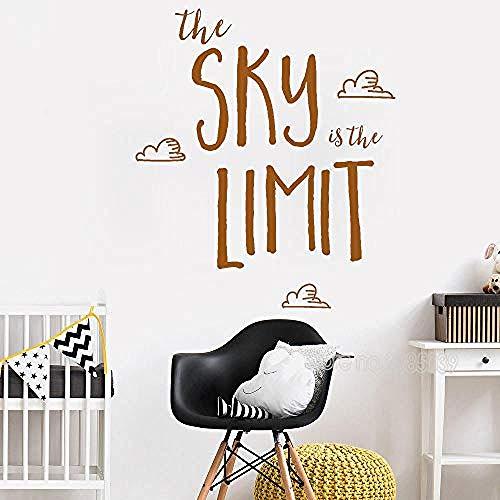 Wandaufkleber Love Inspirational Wandaufkleber Sky Ist Der Ultimative Kunstaufkleber Für Familien, Kindergärten Und Kinderzimmer