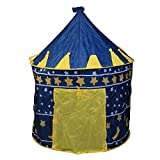 Imported Indoor Outdoor Playhouse Children Boys Blue Pop-up Prince Tent Castle-57000371MG