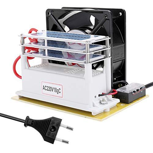 Atlojoys Generador de ozono 24g M/áquina de ozono Purificador de aire Filtro de aire Desinfecci/ón Esterilizaci/ón Limpieza Filtro de aire de formaldeh/ído Ventilador para el hogar