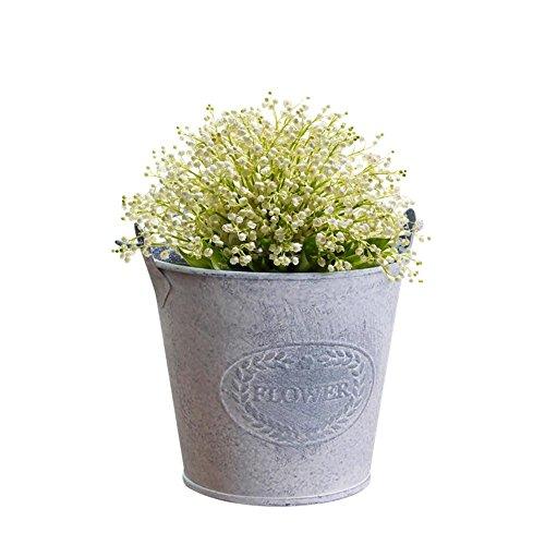 Biback Metálico de Flores Maceta Cubo para Jardín decoración del Ho