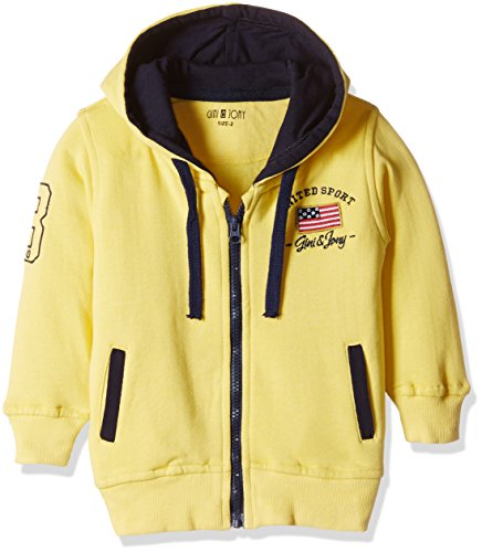 Gini & Jony Baby Boys' Jacket (121140171532 1297_Lemon Zest_9-12 months)