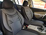 Sitzbezüge k-maniac | Universal schwarz-grau | Autositzbezüge Set Komplett | Autozubehör Innenraum | Auto Zubehör für Frauen und Männer | NO2225319 | Kfz Tuning | Sitzbezug | Sitzschoner