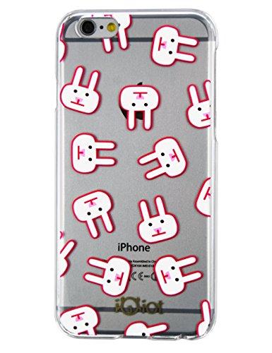 Idiot monstre Flexible Coque de protection Coque arrière avec motif Fashion peint rubbit Rose pour Apple iPhone
