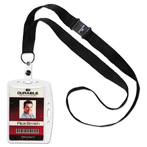 Concha ID titular de la tarjeta con collar (Set de 10)