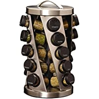 Kamenstein Twist 20-Jar Revolving Spice Rack with Free Spice Refills