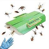 Klebrige Insektenfallen Ungfu Mall Cockroach Traps Klebrige Kakerlake Killer für Home Schädlingsbekämpfung Kill Roaches Ameisen Spinnen und andere Bugs Insekten mit Köder enthalten, ungiftig und umweltfreundlich - 12 Pack & Geschenk 1 Paar Handschuh