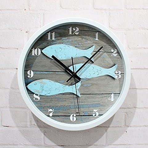 NinewanIn stile europeo vintage semplice creative silenziosa decorativi orologio da parete per soggiorno camera da letto camera da pranzo studio d'ufficio