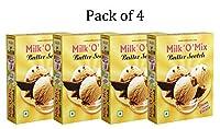 Milkomix Butter Scotch Milkshake & Ice Cream Flavored Milk Powder - Pack of 4