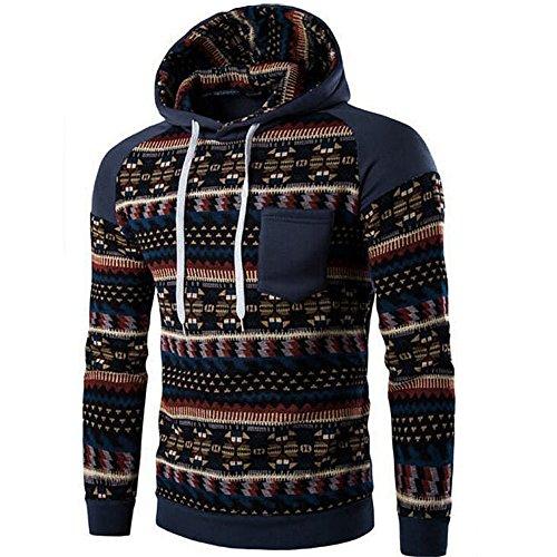 OSYARD Männer Retro Tops,Langarm Kapuzenpullover mit Kapuze, Herren Camouflage Hoodie Winter DüNnen Sweatshirt Jacke Mantel Outwear (Jacke Herren Forum)