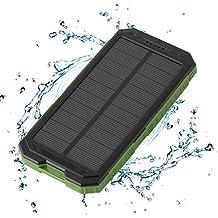 maistore Solar Power Bank 20000mAh große KapazitÄt fÜr Handy Dual USB Ladegerät Externer Akku mit LED Taschenlampe Reise Camping
