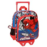DC Comics Spiderman Zaino Trolley Asilo con Due Ruote per Bambini Portapranzo Viaggio Tempo Libero