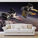 Star Wars Obi Anakin Jedi Sternjäger- Forwall - Fototapete - Tapete - Fotomural - Mural Wandbild - (1680WM) - XXL - 312cm x 219cm - VLIES (EasyInstall) - 3 Pieces