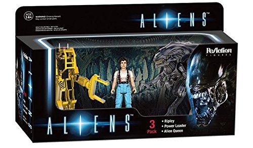 Paquete de 3 Figuras de acción Aliens Reaction - Ellen Ripley, Power Loader & Alien Queen 2