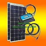 260Watt 12Volt Inselanlage, Solar Bausatz, Basis Set für Garten Camping