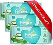 Pampers Baby Gentle Wet Wipes with Aloe Vera, 72 + 144 Wipes