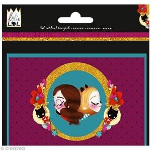 Avenue Mandarine co052o-Juego para Crear-Tarjeta con sobre y un imán lolielol