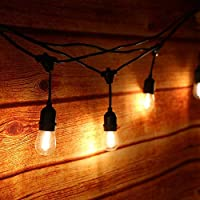 Guirnalda Luces Exterior, Tomshine Luz de Cadena 15m IP65 Impermeable, 15pcs LED Filamento Bombilla Guirnalda Luminosa para Fiesta Boda Jardín Decoración (blanco cálido)