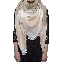 Yidarton Écharpe Chale Femme Cachemire Chaud Automne Hiver Grand Plaid Tissu Glands Foulard
