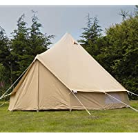 Andes 4m 100% Cotton Canvas Bell Tent With Heavy Duty SIG Groundsheet 16