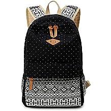 Minetom Lona Backpack Mochilas Escolares Mochila Escolar Casual Bolsa Viaje Moda Estilo Étnico Lunar Del Mujer