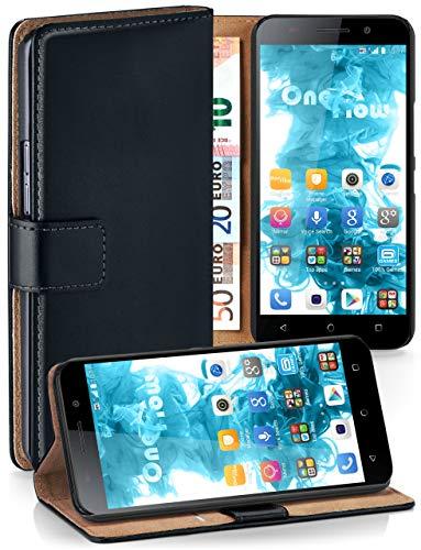 moex® Booklet mit Flip Funktion [360 Grad Voll-Schutz] für Huawei Honor 4X | Geldfach & Kartenfach + Stand-Funktion & Magnet-Verschluss, Schwarz