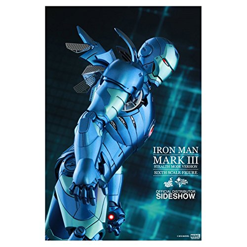 Avengers–Figur iron Man Mark III STEALTH Mode Version 2015, Exclusive (Hot Toys sshot902550)