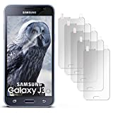 5x Samsung Galaxy J3 (2016) Schutzfolie Matt Display Schutz [Anti-Reflex] Screen protector Fingerprint Handy-Folie matte Displayschutz-Folie für Samsung Galaxy J3 2016 Displayfolie