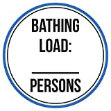 Maureen52Dorothy Baden Laden: -Persons Schwimmen Pool Spa Warnschilder Sticker Funny gewerblichen Safety Signs Aufkleber rund Vinyl Hinweis Schild Aufkleber 22,9 x 22,9 cm