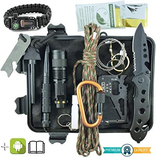 3a9f3f9ae8 Kit Sopravvivenza Militare Professionale di Terza Generazione Emergenza  Montagna Trekking Escursionismo Outdoor 11 in 1 Torcia