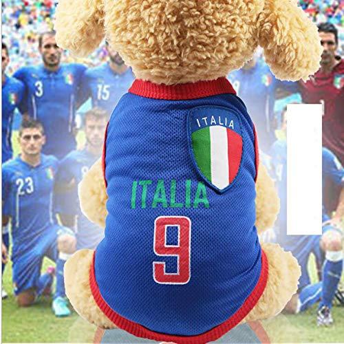 VIAOI Hundebekleidung mit Netzrückseite, für Fußball und Basketball (Kostüm D'halloween Pour Animaux)