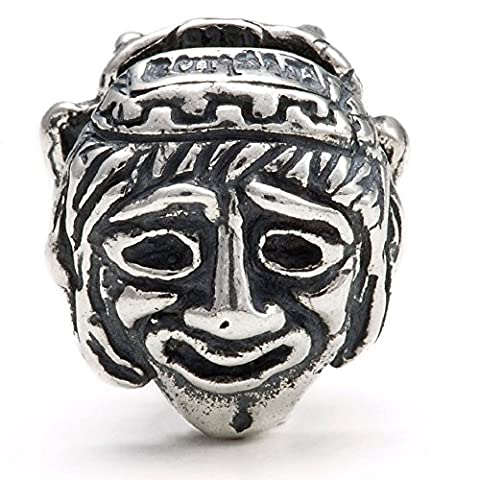 Comedy & Tragedy Masks - Handmade in Greece. Sterling Silver 925 - Melina World Jewellery 5002