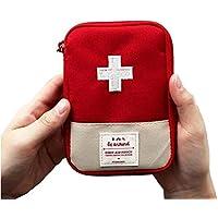 Mini bolsa médica Kit de primeros auxilios Bolsa de embalaje de drogas Viaje al aire libre Portable Red