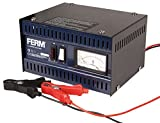 FERM Chargeur de batterie / démarreur pour voiture - 6V / 12V - Max. 75Ah - 5A, avec câbles de...
