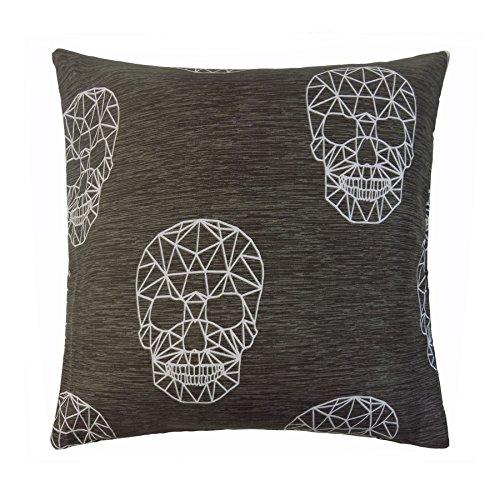 Halloween Skulls braun creme Baumwolle-Mischung Kissen, passend zum Bettbezug Set - Für Halloween Passend